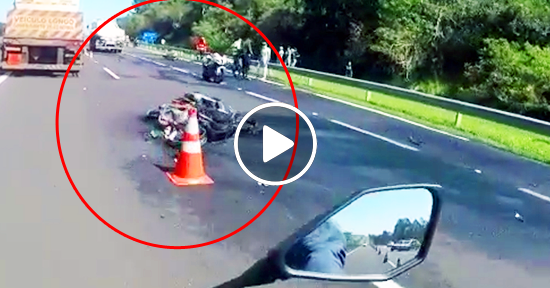 Accidente de motos en Brasil